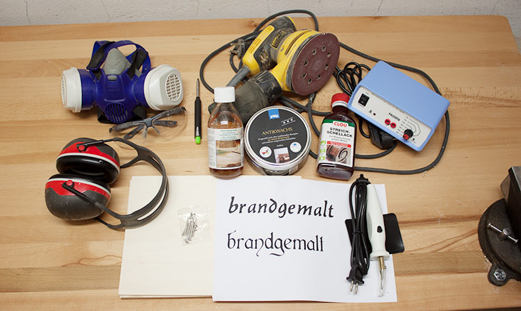 Brandmalerei Anleitung - Vorbereitung