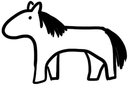 Brandmalerei Vorlagen - Tiere - Pferd