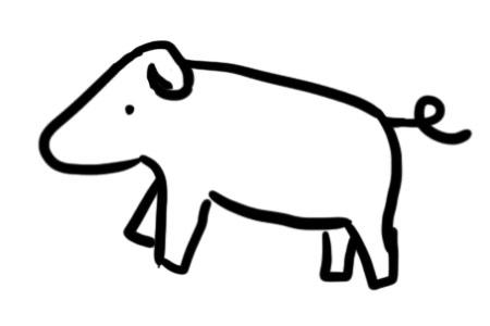 Brandmalerei Vorlagen Schwein