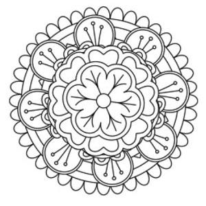 Brandmalerei Motiv Mandala