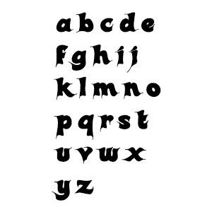 Brandmalerei Buchstaben Schablone